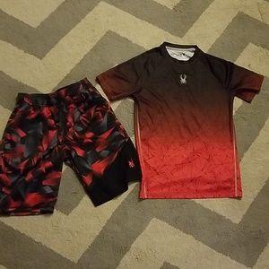Boys Youth large shorts and matching shirt.